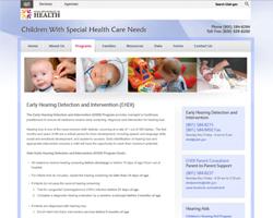 Utah EHDI Program Website, 2019